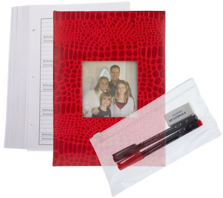 Lifetime Address Book w/ Photo Cover, Pens, Eraser & 20 ExtraPages