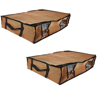 SuperPack Set of 2 Under Bed Compression Bags w/ Totes - V33698