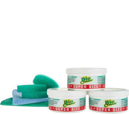 Bio Cleaner Set (3) 17.5oz Cleaning Clay w/ 2 Microfiber Cleaning Cloths