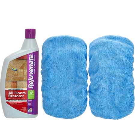 Rejuvenate 32oz. Floor Restorer w/2 Microfiber Mop Applicators