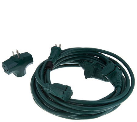 Snow Joe Indoor/Outdoor 25' Extension Cord with 5 Outlets