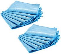 Bio Cleaner Set of 12 Diamond Weave Microfiber Cloths - V35199