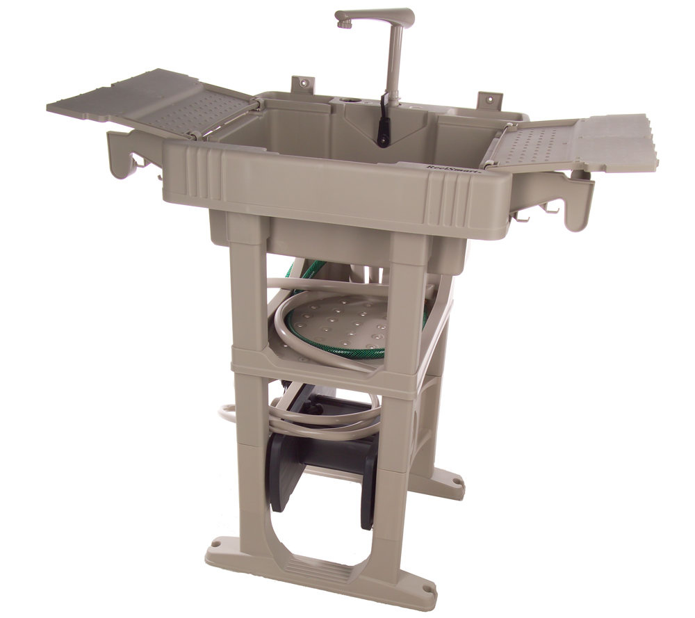 ReelSmart Outdoor Sink Station wAuto Rewind 150Cap Hose Reel