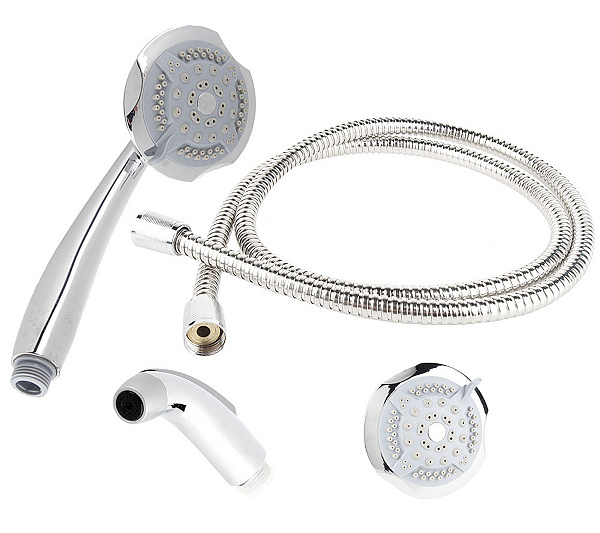 Rainfall 5-Function Massaging Dual Showerhead - Page 1 — QVC.com