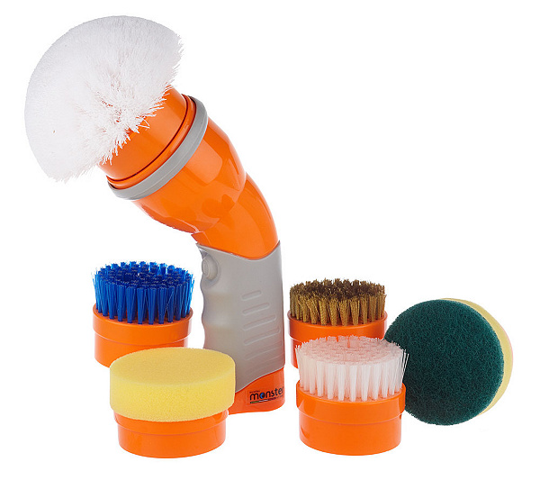 Monster Cordless Rotary Power Scrubber w  Scrub Brush Accessories   Page 1    QVC com. Monster Cordless Rotary Power Scrubber w  Scrub Brush Accessories