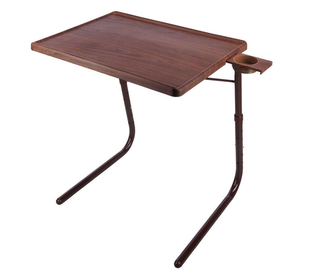 Marvelous Table Mate II Faux Woodgrain Multi Purpose Portable Folding Table   Page 1  U2014 QVC.com