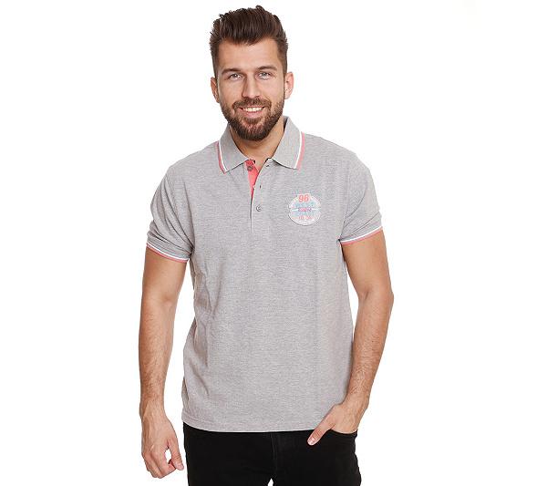 JOHN BRADLEY Poloshirt Kontrastdetails gekämmte Baumwolle kurze  Seitenschlitze. Zurück zum Video ebdf07f8e2