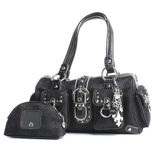 Kathy Van Zeeland Signature Emblem Shoulder Bag With Key Fob Product Thumbnail In Stock