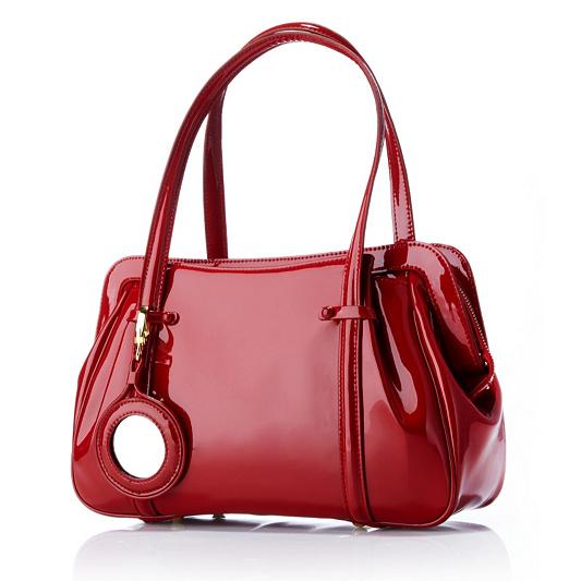 107487d63d Lulu Guinness Shiny Patent Leather Medium Franka Bag. product thumbnail. In  Stock