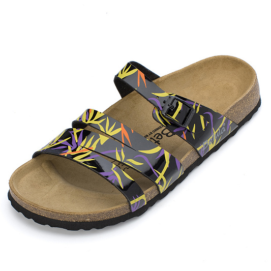 1503370ef3ec Betula by Birkenstock Nele Patent Tropical Print Sandal. product thumbnail.  In Stock