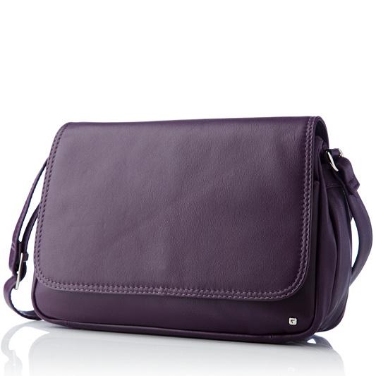 Tula Originals Leather Medium Flapover Cross Body Bag