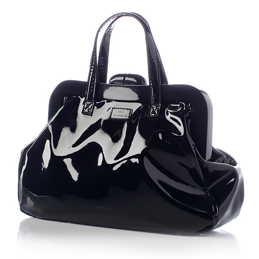 Lulu Guinness Shiny Patent Leather Doctor Pollyanna Bag. product thumbnail.  In Stock d77f213825eeb