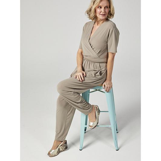 455b2f13d24 Kim   Co Brazil Jersey Short Sleeve Jumpsuit - Page 1 - QVC UK