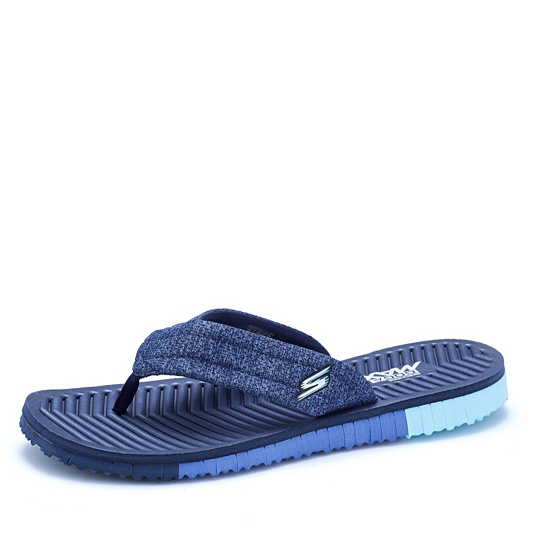 c9e73f6e4 Skechers GO FLEX 3 Solana Perforated Heathered Mesh Point Sandal. Back to  video