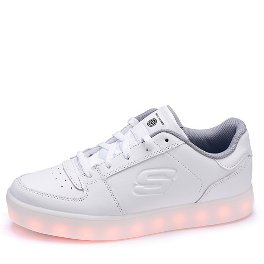 Skechers Kids Energy Lights Elate Lace Up Trainer With Hidden