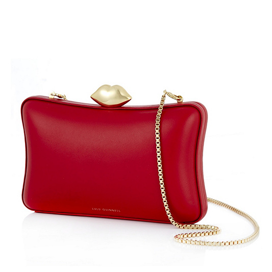 77a115b18d2e0 Lulu Guinness Lavinia Smooth Leather Clutch Bag. Back to video