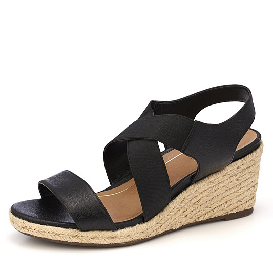 8cdedaf68b12 Vionic Orthotic Tulum Ainsleigh Espadrille Wedge Sandal w  FMT Technology.  Back to video