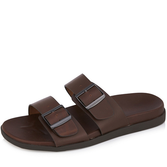 cd839ae0903f Vionic Orthotic Ludlow Charlie Men s Leather Slider Sandal w  FMT ...
