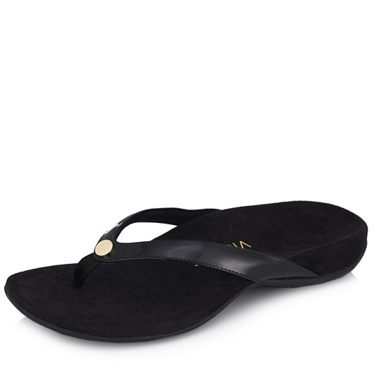 c58a614420f053 Vionic Orthotic Rest Mona Gold   Button Trim Toepost Sandal w  FMT  Technology. Back to video