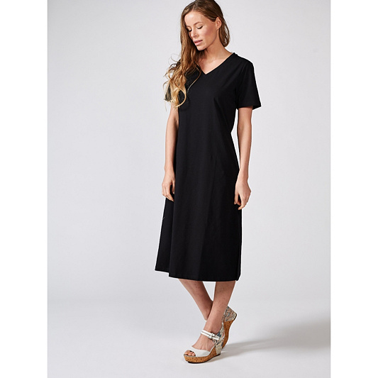 7c12f319b60 Denim   Co. Essentials Solid Midi Dress. Back to video