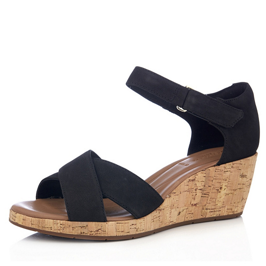 ff89f7562ad Clarks Un Plaza Cross Wedge Sandal Wide Fit. Back to video