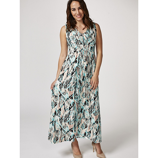 d4a01d14ba0b Together Tribal Leaf Print Maxi Dress. Back to video