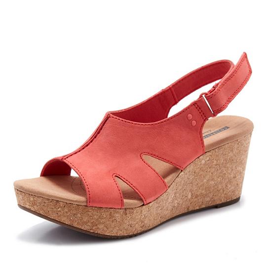 0eb12a4782a Clarks Annadel Bari Wedge Sandal Standard Fit - QVC UK