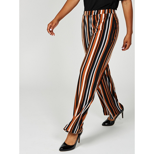 Printed Liquid Knit Wide Leg Trousers By Susan Graver Qvc Uk