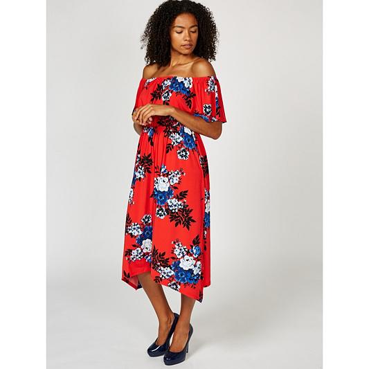 236ba4ae6cbd Du Jour Off The Shoulder Floral Printed Midi Dress. product thumbnail.  Please select a colour: