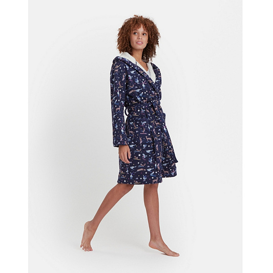 ef94a22650 Joules Idlewhile Fleece Inner Jersey Dressing Gown. Back to video