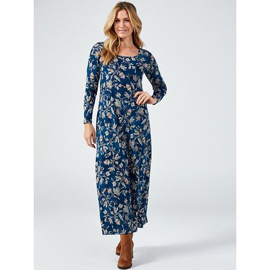 699a43c6c34 Kim   Co Printed Brazil Jersey Long Sleeve Maxi Dress - QVC UK