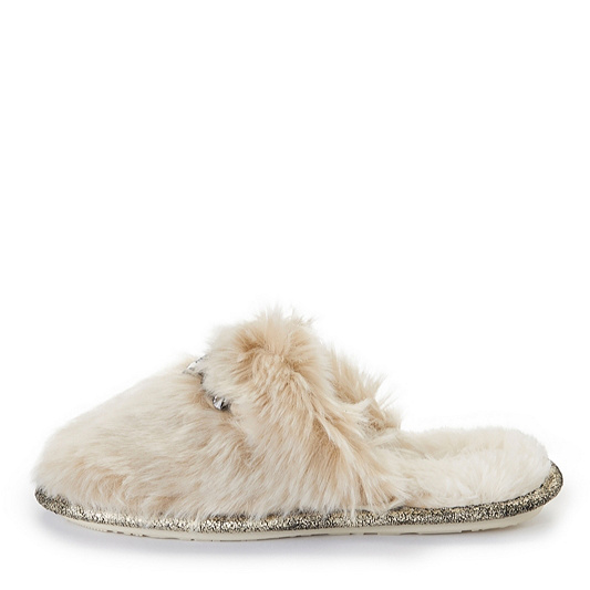 f62d477bccf Outlet Pretty You London Vogue Faux Fur Mule Slippers with Jewels. product  thumbnail. Please select a colour