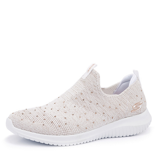 reputable site 8c1e5 04a5d Skechers Ultra Flex Thrive Up Slip On Rhinestone Trainer. product  thumbnail. Please select a colour