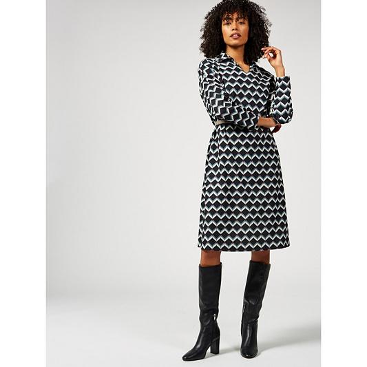 Ben de Lisi Geo Square Print 3 4 Sleeve Crepe Kaftan Dress. Back to video 5e0886abb
