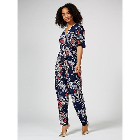 e6a6333ab785 Outlet Kim   Co Brazil Jersey Short Sleeve Jumpsuit - QVC UK