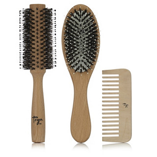 Taya Wooden Hair Brush & Comb Collection