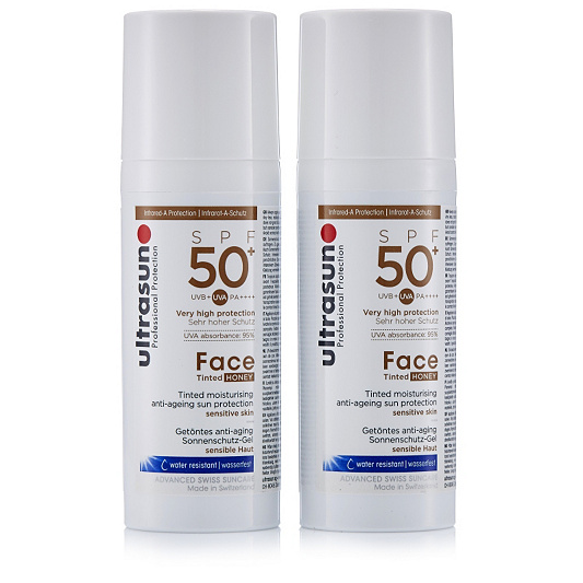 30952a964f3 Ultrasun Sun Protection Tinted Face SPF 50+ 50ml Duo - Page 1 - QVC UK
