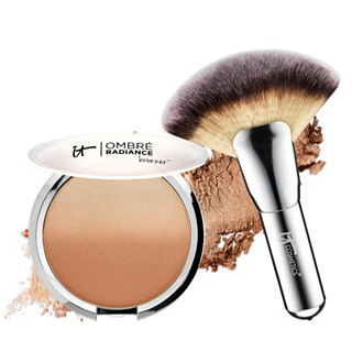 IT Cosmetics CC Ombre Radiance Bronzer & Luxe Mega Fan Brush