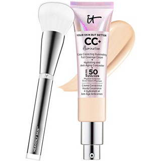 IT Cosmetics Full Coverage CC Illumination & Heavenly Skin Brush