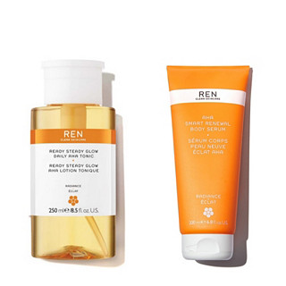 Ren Clean Skincare Get The Glow Face & Body Duo