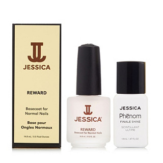 Jessica Nails Finale Shine Topcoat & Reward Basecoat
