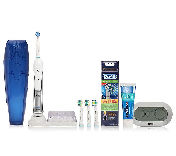 Oral B Elektrische Zahnbürste Smart Guide 14 Aufsteckköpfe Qvcde