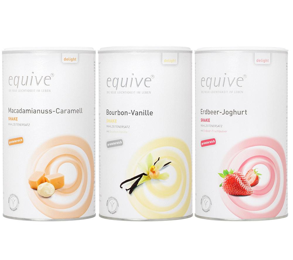 Equive Diat Shake Ersatzmahlzeit 3 Sorten Fur 6 Wochen Qvc De