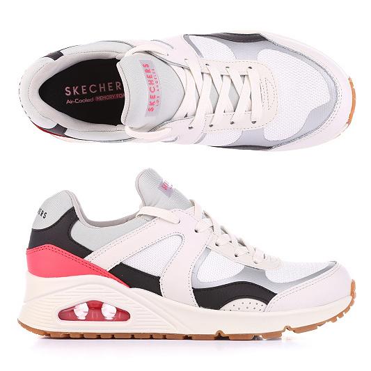 — Skechers Damen Materialmix Foam Memory Sneaker Uno VpqUMSz