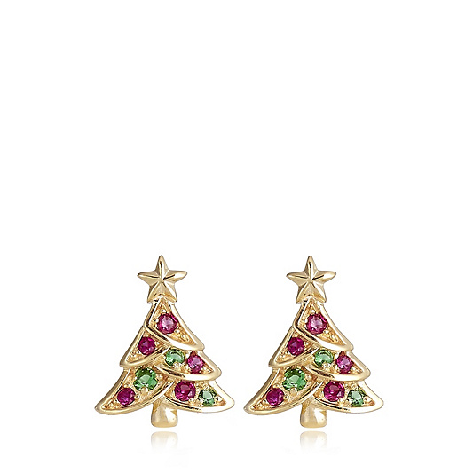 Christmas Tree Earrings Sterling Silver Back To Video