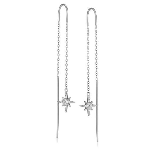 Scream Pretty Starburst Threader Earrings Sterling Silver Back To Video