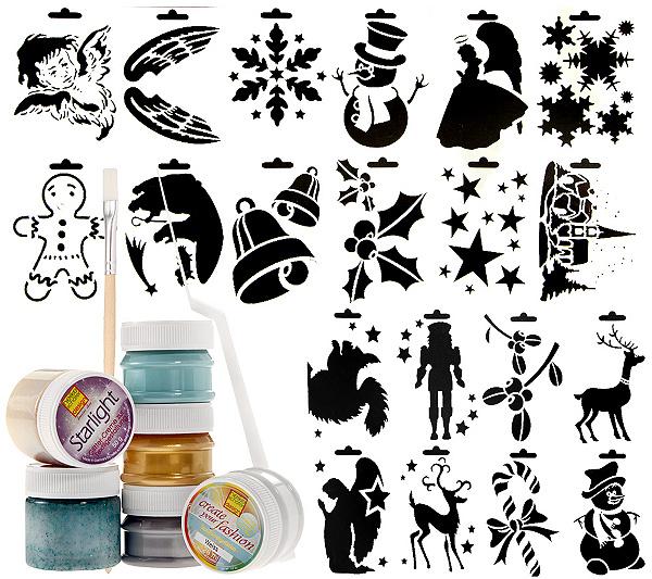 HEIKE SCHÄFER Textilgestaltung Weihnachten mit Schablonen & Farben ...