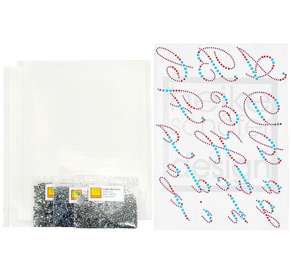 HEIKE SCHÄFER Textil-Design Kristall Schriften Hotfix Kristalle ...