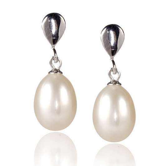 107cc4610 Honora 9-9.5mm CFW Drop Pearl Earrings Sterling Silver. product thumbnail.  In Stock