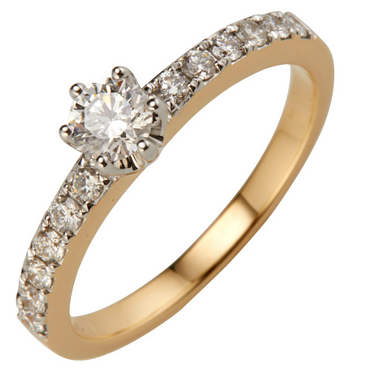 Qvc Enement Rings | Canadian Diamonds Ring 13 Brillanten Zus Ca 0 65ct Gold 750 Page